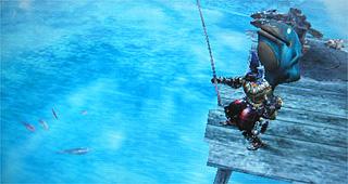 カエルクラフト背負って釣堀